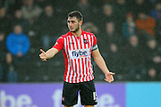Exeter City's Jordan Moore-Taylor during the Sky Bet League 2 match between Exeter City and Accrington Stanley at St James' Park, Exeter, England on 23 January 2016. Photo by Graham Hunt.