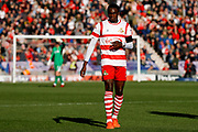Doncaster Rovers midfielder Rodney Kongolo (7), on loan from Manchester City,  during the EFL Sky Bet League 1 match between Doncaster Rovers and Rotherham United at the Keepmoat Stadium, Doncaster, England on 11 November 2017. Photo by Simon Davies.