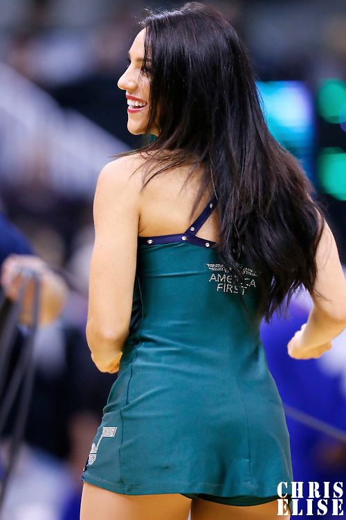 09 December 2015: America Fist Jazz Dancer performs during the Utah Jazz 106-85 victory over the New York Knicks, at the Vivint Smart Home Arena, Salt Lake City, Utah, USA.