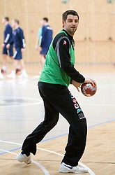 Goalkeeper Dusan Podpecan at Open training session for the public of Slovenian handball National Men team before European Championships Austria 2010, on December 27, 2009, in Terme Olimia, Podcetrtek, Slovenia.  (Photo by Vid Ponikvar / Sportida)