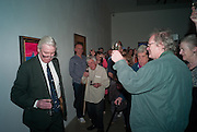 JOHN MCEWEN; GRAHAM MCCARTHY, Craigie Aitchison - private view<br /> Memorial retrospective, Timothy Taylor Gallery, 15 Carlos Place, London 28 March 2012.