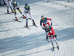 February 25, 2018 - Pyeongchang, South Korea - Marit Bjoergen of Norway compete during the Ladies Cross Country Skiing Mass Start 30k at the PyeongChang 2018 Winter Olympic Games at Alpensia Cross-Country Skiing Centre on Sunday February 25, 2018. .Marit Bjoergen won the eighth gold medal of her career in the ladies' 30km mass start classic, the final event of the Games. After another multi-medal haul here, the illustrious veteran of five Games leaves PyeongChang as the most decorated Winter Olympian in history with a total of 15 medals: she has four silver and three bronze as well as her eight gold. (Credit Image: © Paul Kitagaki Jr. via ZUMA Wire)