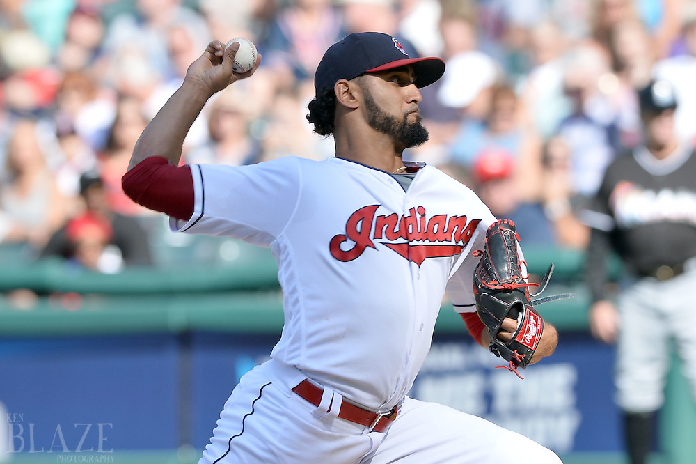 Sep 4, 2016; Cleveland, OH, USA; Cleveland Indians starting pitcher Danny Salazar (31) throws a pitch during the first inning against the Miami Marlins at Progressive Field. Mandatory Credit: Ken Blaze-USA TODAY Sports