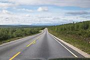 Rettstrekning mellom Karasjok og lakselv i Finnmark, E6, Europaveg 6.