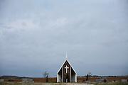 The Loving Cemetery backs onto farmland in north Texas.