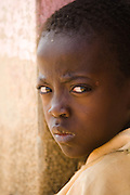 Portrait of a boy frowning.Northern Ghana, Wednesday November 12, 2008.