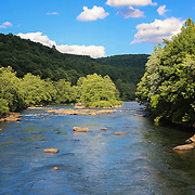 """""""Youghiogheny River""""<br /> <br /> Such a lovely day on the Youghiogheny River in Pennsylvania! Blue skies and green trees make a wonderful summer scene!"""
