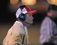 Lafayette High coach Anthony Hart vs. Leake Central in playoff high school football action in Oxford, Miss. on Friday, November 4, 2011. Lafayette won 46-7.