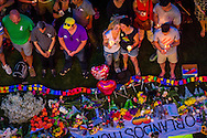 Vigil at Dr. Phillips Center, photo by Roberto Gonzalez Aftermath of the Pulse nightclub shooting in Orlando, Florida.