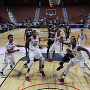 Sindarius Thornwell, South Carolina, shoots a free throw during the St. John's vs South Carolina Men's College Basketball game in the Hall of Fame Shootout Tournament at Mohegan Sun Arena, Uncasville, Connecticut, USA. 22nd December 2015. Photo Tim Clayton