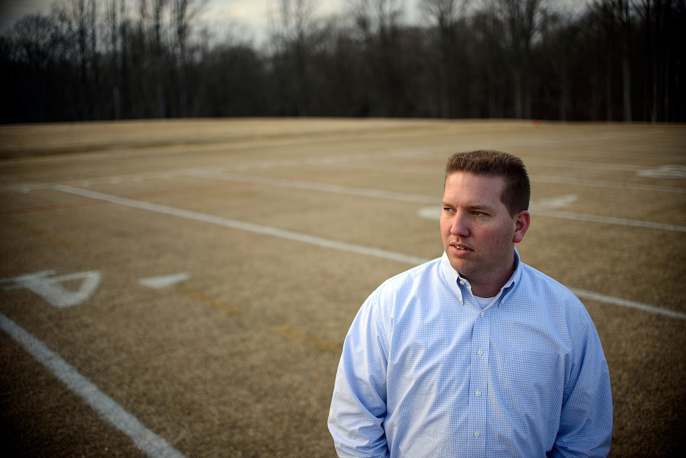Photo by Matt Roth.Assignment ID: 10137590A..Chad Unitas, 34, son of Baltimore Colts iconic Hall of Fame quarterback Johnny Unitas, works for the Baltimore Ravens. He is photographed at the Baltimore Ravens' practice facility, The Under Armour Performance Center in Owings Mills, Maryland on Wednesday, January 23, 2013.