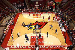 22 December 2015: A view of Doug Collins Court inside Redbird Arena from the North end.  Illinois State Redbirds host the Tennessee State Tigers at Redbird Arena in Normal Illinois (Photo by Alan Look)
