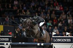 Delaveau Patrice, (FRA), Lacrimoso 3 Hdc<br /> Grand Prix of Stuttgart <br /> Longines FEI World Cup<br /> Stuttgart - German Masters 2015<br /> © Hippo Foto - Stefan Lafrentz