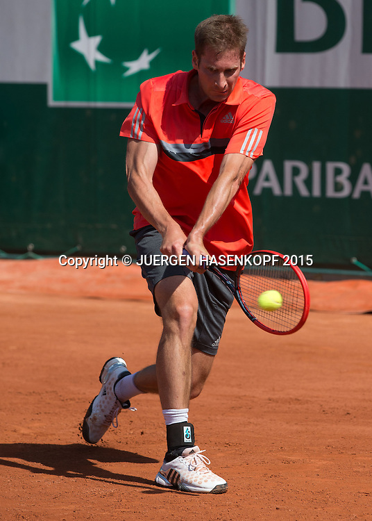 Florian Mayer (GER)<br /> <br /> Tennis - French Open 2015 - Grand Slam ITF / ATP / WTA -  Roland Garros - Paris -  - France  - 24 May 2015.