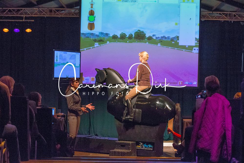 Barbro Ask Upmark dressage simulator<br /> Global Dressage Forum - Academy Bartels <br /> Hooge Mierde 2012<br /> &Acirc;&copy; Dirk Caremans