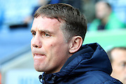 Bradford City Manager Phil Parkinson during the Sky Bet League 1 match between Coventry City and Bradford City at the Ricoh Arena, Coventry, England on 19 April 2016. Photo by Chris Wynne.