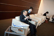Shinichiro Ito, President and CEO of All Nippon Airways Co., Ltd., in his boardroom, in Tokyo, Japan, on Wednesday 16th February 2011.