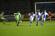 95663069f7b968 Forest Green Rovers Jordan Stevens(8) takes a penalty and scores a goal 1