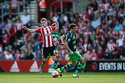 Southampton's Steven Davis is fouled - Mandatory by-line: Jason Brown/JMP - 07966 386802 - 26/09/2015 - FOOTBALL - Southampton, St Mary's Stadium - Southampton v Swansea City - Barclays Premier League