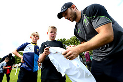 Chris Pennell of Worcester Warriors signs autographs as Worcester Warriors host a summer holiday rugby camp at Malvern College - Mandatory by-line: Robbie Stephenson/JMP - 16/08/2017 - RUGBY - Malvern College - Worcester, England - Worcester Warriors - Malvern Rugby Camp