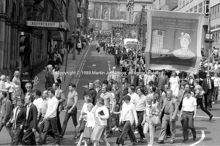 Glasshoughton banner,1983 Yorkshire Miner's Gala. Barnsley
