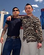 Men in Rockabilly styles. Viva Las Vegas weekend. 2002