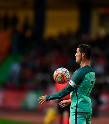 Portugal's Cristiano Ronaldo controls the ball during a friendly soccer match betweem Portugal and Belgium in preparation for Euro 2016 in France at Leiria Municipal Stadium, Portugal, on March 29, 2016. Portugal won 2-1. EXPA Pictures © 2016, PhotoCredit: EXPA/ Photoshot/ Zhang Liyun<br /> <br /> *****ATTENTION - for AUT, SLO, CRO, SRB, BIH, MAZ, SUI only*****
