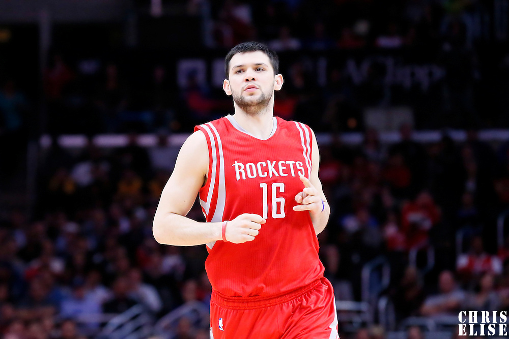 11 February 2015: Houston Rockets forward Kostas Papanikolaou (16) is seen during the Los Angeles Clippers 110-95 victory over the Houston Rockets, at the Staples Center, Los Angeles, California, USA.