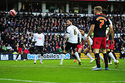 Reading's Hal Robson-Kanu scores. - Photo mandatory by-line: Alex James/JMP - Mobile: 07966 386802 - 14/02/2015 - SPORT - Football - Derby  - ipro stadium - Derby County v Reading - FA Cup - Fifth Round