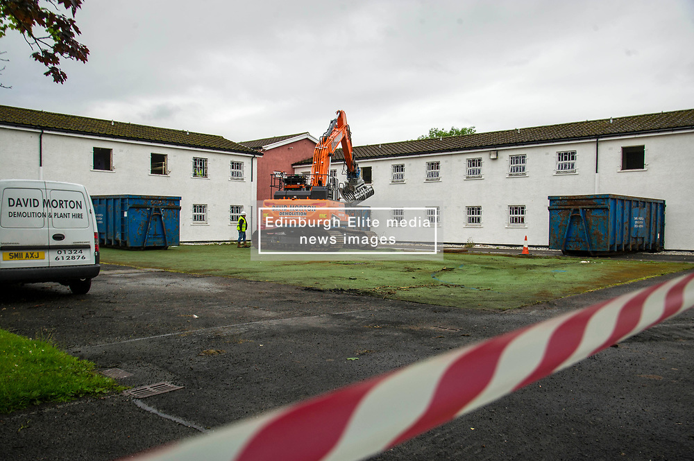 """Pictured: <br /> Justice Secretary Michael Matheson joined governor Caroline Johnstone to mark the start of demolition of Corton Vale Prison today. Cornton Vale is a women's prison in Stirling, operated by the Scottish Prison Service. Built in 1975, Cornton Vale comprises a total of 217 cells in its 5 houses. Ministers decided to close the prison after former Lord Advocate Elish Angiolini warned it was """"not fit for purpose"""".<br />  <br /> Ger Harley 