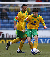 Oldham - Saturday February 26th, 2010 :  Wes Hoolahan of Norwich in action during the Coca Cola League One match at Boundary Park, Oldham. (Pic by Paul Chesterton/Focus Images)..