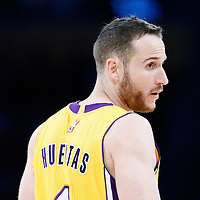 05 December 2016: Los Angeles Lakers guard Marcelo Huertas (4) is seen during the Utah Jazz 107-101 victory over the Los Angeles Lakers, at the Staples Center, Los Angeles, California, USA.