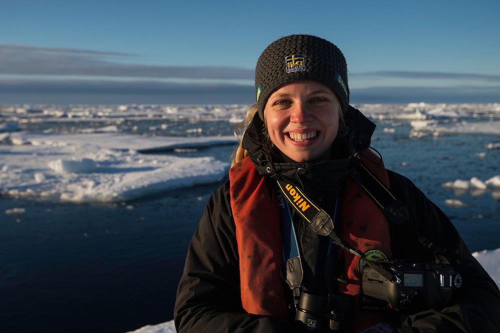Polar traveller Liisa Widstrand, Svalbard, Norway, Arctic