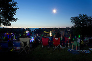 Middletown, New York - People get ready to watch the fireworks display at Fancher-Davidge Park that was part of the celebration of the 125th anniversary of the founding of the City of Middletown on June 29, 2013.