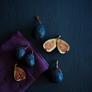 figs on slate food photography san diego