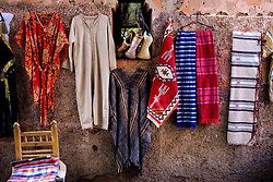 Goods for sale on display against a wall in the medina in Marrakech, Morocco, North Africa<br /> <br /> (c) Andrew Wilson | Edinburgh Elite media
