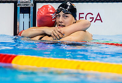 Hannah Russell of Great Britain Naomi and Maike Schnittger of Germany celebrate after the Swimming Women's 50m Freestyle - S12 Final during Day 10 of the Rio 2016 Summer Paralympics Games on September 17, 2016 in Olympic Aquatic Stadium, Rio de Janeiro, Brazil. Photo by Vid Ponikvar / Sportida