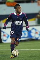 FOOTBALL - FRENCH LEAGUE CUP 2011/2012 - 1/2 FINAL - FC LORIENT v OLYMPIQUE LYONNAIS - 31/01/2012 - PHOTO PASCAL ALLEE / DPPI - ALEXANDRE LACAZETTE (OL)