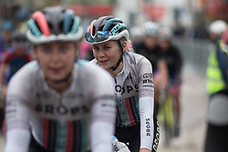 Anna Christian (GBR) of Drops Cycling Team after finishing Stage 1 of 2019 OVO Women's Tour, a 157.6 km road race from Beccles to Stowmarket, United Kingdom on June 10, 2019. Photo by Balint Hamvas/velofocus.com