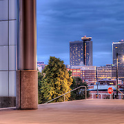 Looking toward Crown Center from the Convention Center, Kansas City, Missouri.