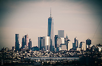 Freedom Tower 2014 with the Manhattan Skyline shot from NJ