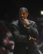 "Mississippi Valley State coach Sean Woods  at C.M. ""Tad"" Smith Coliseum in Oxford, Miss. on Monday, December 13, 2010."
