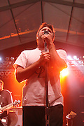 LCD Soundsystem featuring James Murphy (vocals), Nancy Whang (keyboards, synthesizer), Pat Mahoney (drums), Tyler Pope (bass), David Scott Stone (guitar), .Matt Thornley (percussion), and Gavin Russom (synths) perform on the second day of the 2010 Bonnaroo Music & Arts Festival on June 11, 2010 in Manchester, Tennessee. The four-day music festival features a variety of musical acts, arts and comedians..Photo by Bryan Rinnert/3Sight Photography