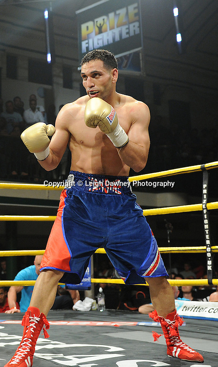 Yassine El Maachi defeats Junior Witter in the final to claim the title of Prizefighter Welterweights II,York Hall, Bethnal Green ,London. 07.06.11. Matchroom Sport/Prizefighter.Photo credit: Leigh Dawney 2011