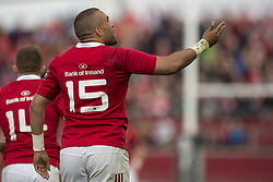 May 20, 2017 - Limerick, Irland - Simon Zebo of Munster thanks hie supporters after his try during the Guinness PRO12 Semi-Final match between Munster Rugby and Ospreys at Thomond Park Stadium in Limerick, Ireland on May 20, 2017  (Credit Image: © Andrew Surma/NurPhoto via ZUMA Press)