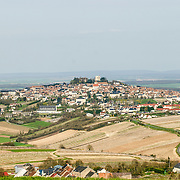 View of Sancerre on the top of the hill in the disatnce