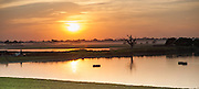 Sunset view from U Bein bridge (Amarapura, Myanmar)