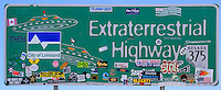 Extraterrestrial Highway Sign on Nevada 375 Near Rachel, Nevada. Image taken with a Nikon D3s and 85 mm f/2.8D PC-E lens (ISO 200, 85 mm, f/8, 1/640 sec).