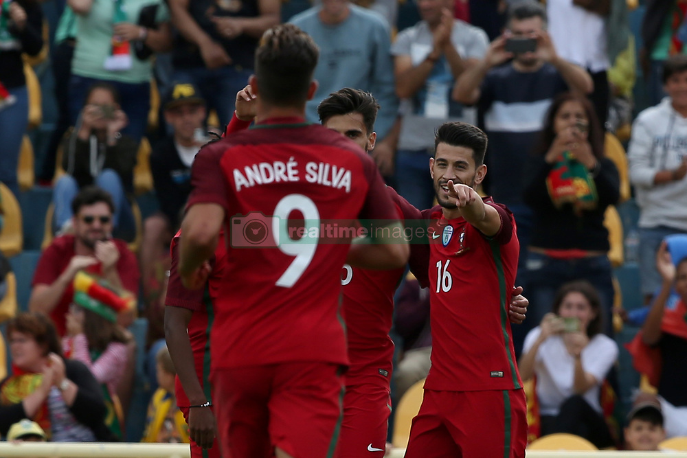 June 3, 2017 - Lisbon, Portugal - Portugal's midfielder Pizzi celebrates with teammates after scoring during the friendly football match Portugal vs Cyprus at Antonio Coimbra da Mota Stadium in Estoril, outskirts of Lisbon, Portugal on June 3, 2017. Photo: Pedro Fiuza (Credit Image: © Pedro Fiuza via ZUMA Wire)