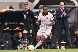 (L-R) Anders Christiansen of Malmo FF, Cyle Christopher Larin of Besiktas JK, coach Uwe Rosler of Malmo FF during the UEFA Europa League group I match between between Besiktas AS and Malmo FF at the Besiktas Park on December 13, 2018 in Istanbul, Turkey